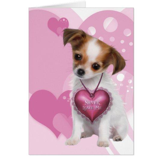 Chihuahua Puppy Love Valentine Card