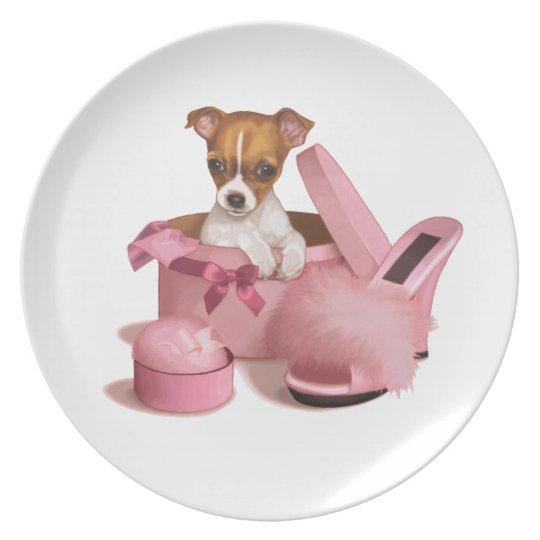 Chihuahua Puppy Plate