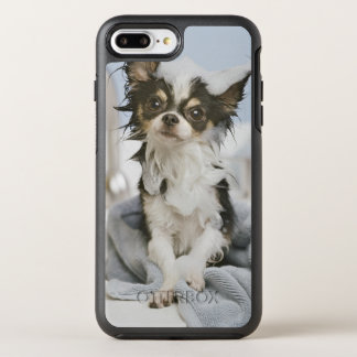 Chihuahua Puppy Wrapped In A Towel OtterBox Symmetry iPhone 7 Plus Case