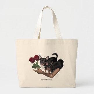 Chihuahua Roses Bag Jumbo Tote Bag