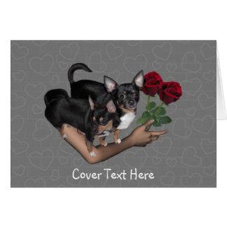 Chihuahua Roses Love Card Greeting Card