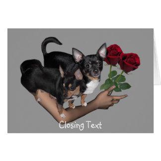 Chihuahua Roses Love Card