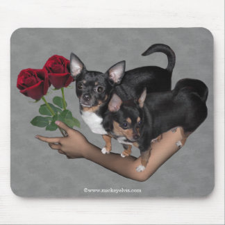 Chihuahua Roses Mousepad