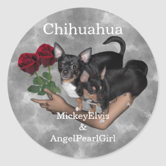 Chihuahua Roses Sticker