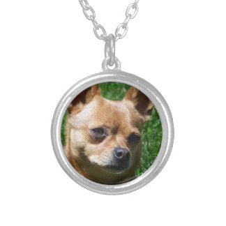 Chihuahua Round Pendant Necklace