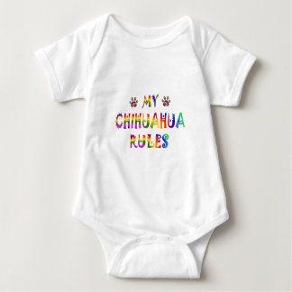 Chihuahua Rules Fun Baby Bodysuit