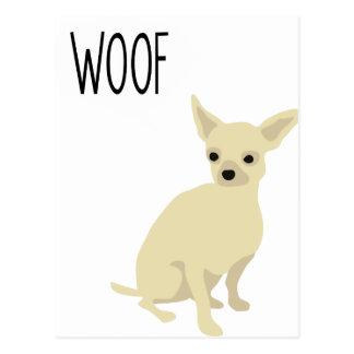 Chihuahua says woof postcard