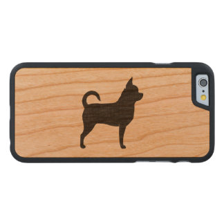 Chihuahua Silhouette Carved® Cherry iPhone 6 Slim Case