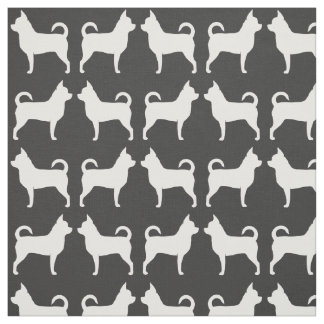 Chihuahua Silhouettes Pattern Fabric