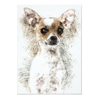 Chihuahua Sketch Pet Portrait Card
