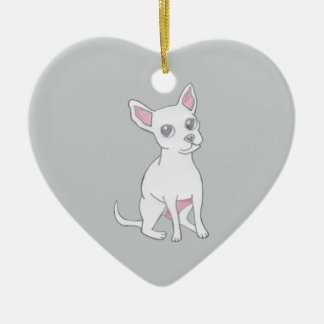 Chihuahua..Small dog with LARGE attitude Ceramic Heart Decoration