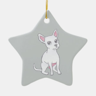 Chihuahua..Small dog with LARGE attitude Ceramic Star Decoration