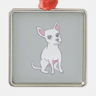 Chihuahua..Small dog with LARGE attitude Silver-Colored Square Decoration