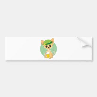 Chihuahua St Pat s Bumper Sticker