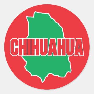 Chihuahua State Round Sticker