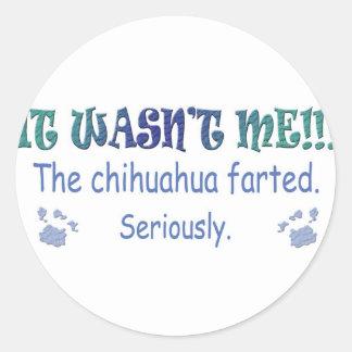 Chihuahua Round Stickers