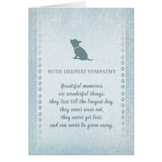 Chihuahua Sympathy Beautiful Memories Card