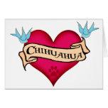 Chihuahua Tattoo Heart Card