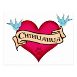 Chihuahua Tattoo Heart Postcard