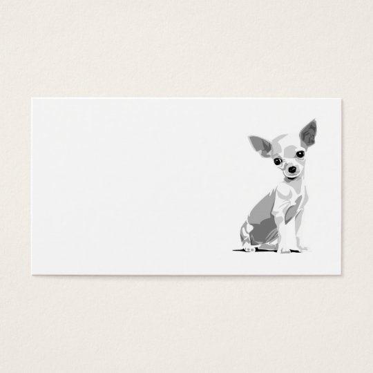Chihuahua template business card