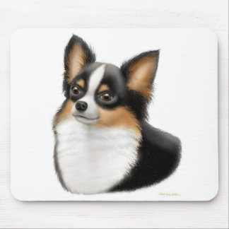 Chihuahua Tricolor Longhair Mousepad
