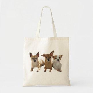 Chihuahua Trio Tote Bag