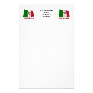 Chihuahua Waving Unofficial Flag Stationery