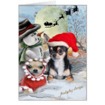 Chihuahua with Snowman  Cards