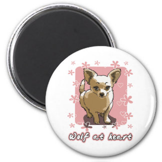 chihuahua wolf RK heart Magnet