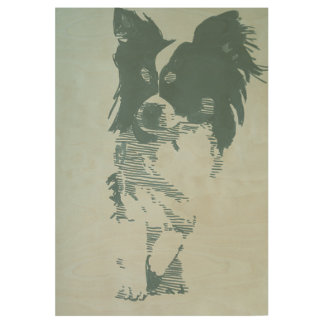 Chihuahua Wood Poster