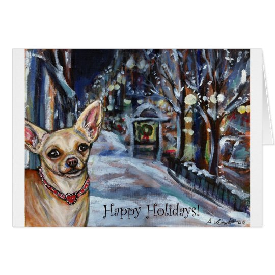 Chihuahua Xmas Holiday Card