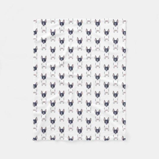 Chihuahuas: Black White Chihuahua Dog Pattern Fleece Blanket