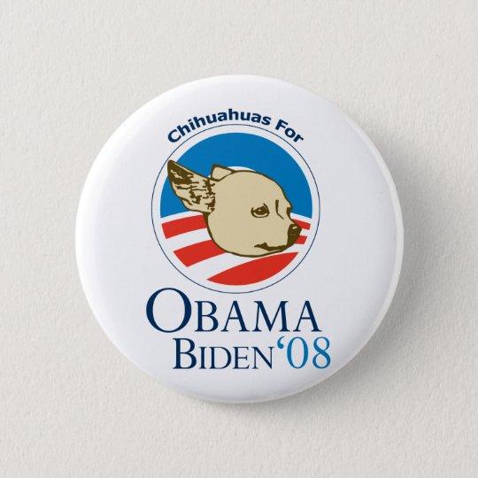 Chihuahuas for Obama 6 Cm Round Badge