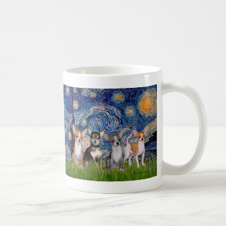 Chihuahuas (four) - Starry Night Coffee Mug
