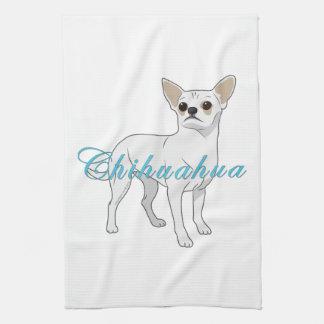 Chihuahuas: Little White Chihuahua Hand Towel