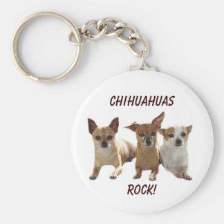 Chihuahuas Rock Keychain