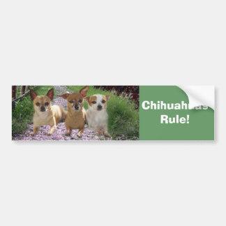 Chihuahuas Rule Bumper Sticker Car Bumper Sticker
