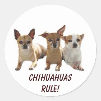 Chihuahuas Rule Sticker