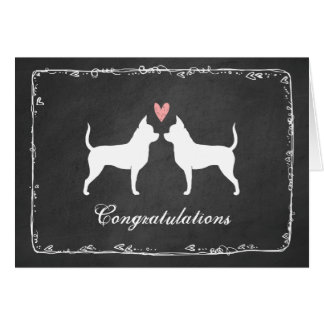 Chihuahuas Wedding Congratulations Card