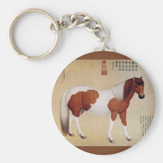 Chihuaying~赤花鹰~ Ten Steeds ~Giuseppe Castiglione ~ Basic Round Button Key Ring