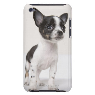 Chihuhua puppy standing on white fabric barely there iPod cover