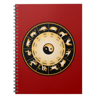 Chiinese Zodiac Wheel Notebooks