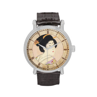Chikanobu Yoshu True Beauties Unknown Title art Wristwatch