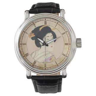 Chikanobu Yoshu True Beauties Unknown Title art Wristwatch