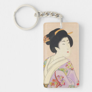 Chikanobu Yoshu True Beauties Unknown Title Double-Sided Rectangular Acrylic Key Ring