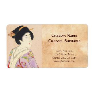 Chikanobu Yoshu True Beauties Unknown Title Shipping Label