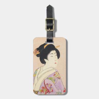 Chikanobu Yoshu True Beauties Unknown Title Bag Tag