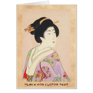 Chikanobu Yoshu True Beauties Unknown Title Note Card