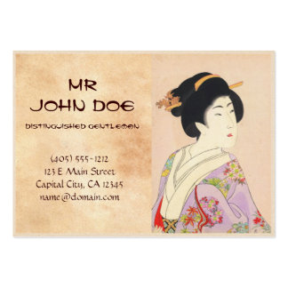 Chikanobu Yoshu True Beauties Unknown Title Pack Of Chubby Business Cards