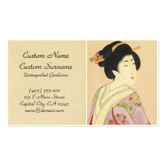 Chikanobu Yoshu True Beauties Unknown Title Pack Of Standard Business Cards
